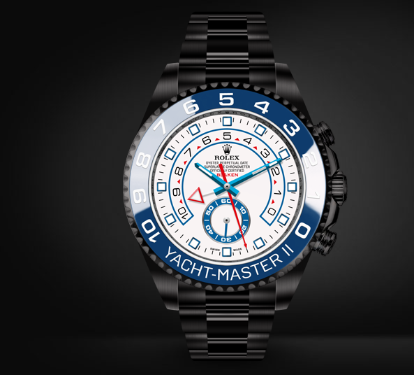 Yacht-Master II Automatic Watch White Dial By Blaken