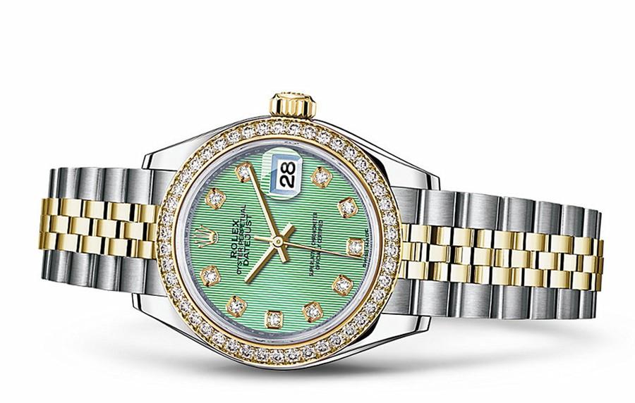 Rolex Datejust Ladies 279383-0013 Swiss Automatic Mint Green Dial 28MM