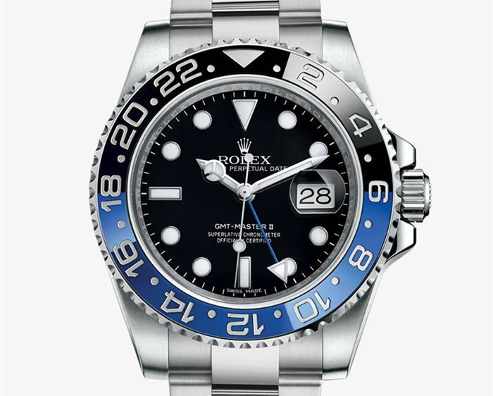 "The New Version - The words ""GMT-Master II"" at 6:00 is  WHITE (Same as Rolex Official Site)."