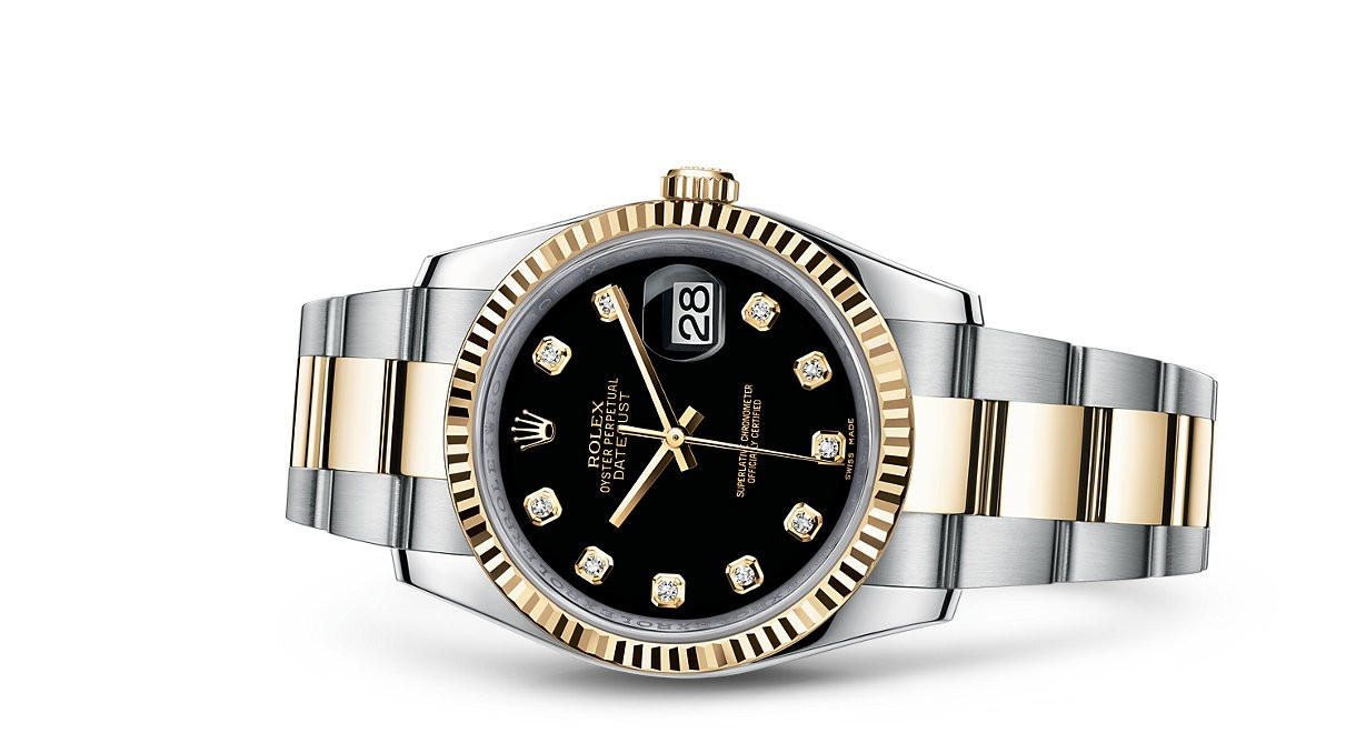 Rolex Datejust 116233-0175 Swiss Automatic Watch Black Dial 36MM
