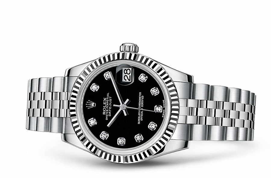 Rolex Datejust Ladies 178274-0014 Swiss Automatic Black Dial 31MM
