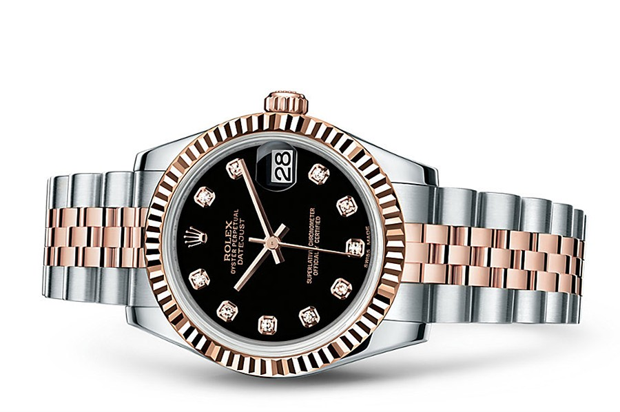 Rolex Datejust Ladies 178271-0017 Swiss Automatic Black Dial 31MM