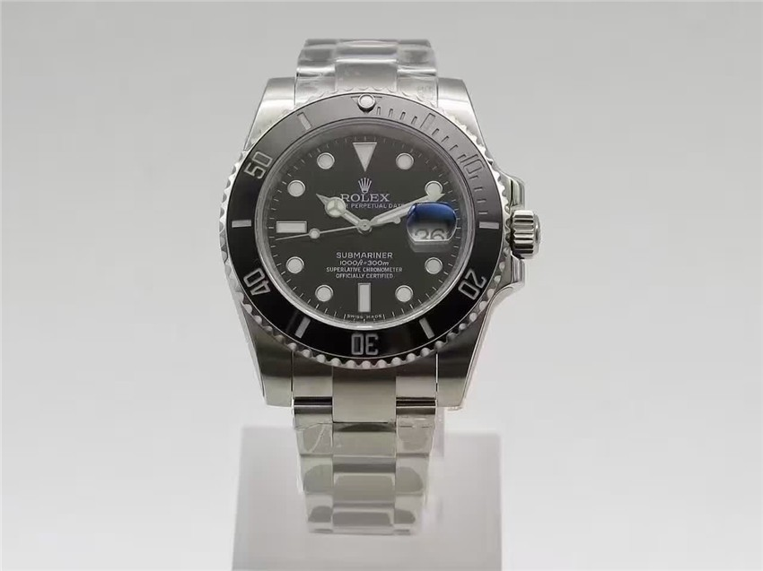 Rolex Submariner Swiss Automatic Watch Black Dial 116610