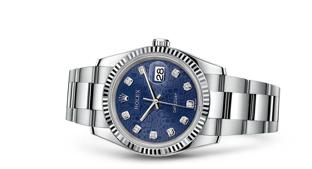 Rolex Datejust 116234-0123 Swiss Automatic Watch Blue Dial 36MM