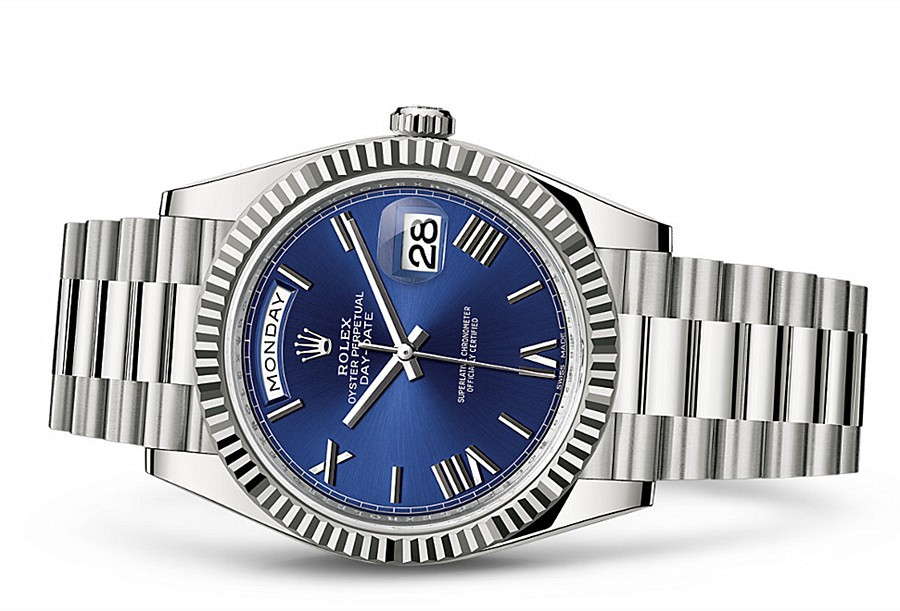 Rolex Day-Date 228239 Swiss 3235 Automatic Watch Dark Blue Dial 40MM