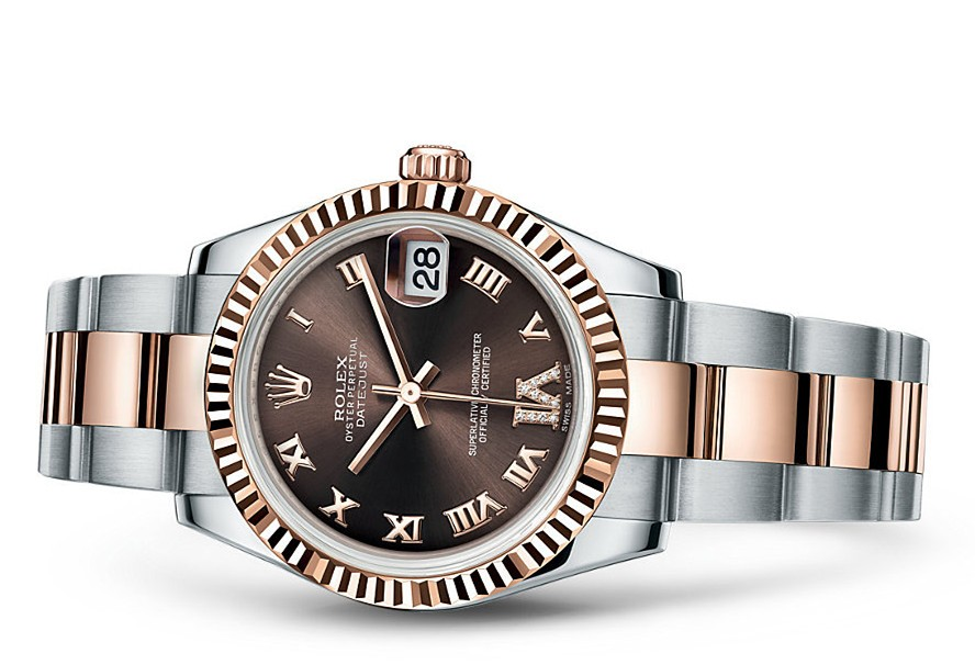 Rolex Datejust Ladies 178271-0075 Swiss Automatic Brown Dial 31MM