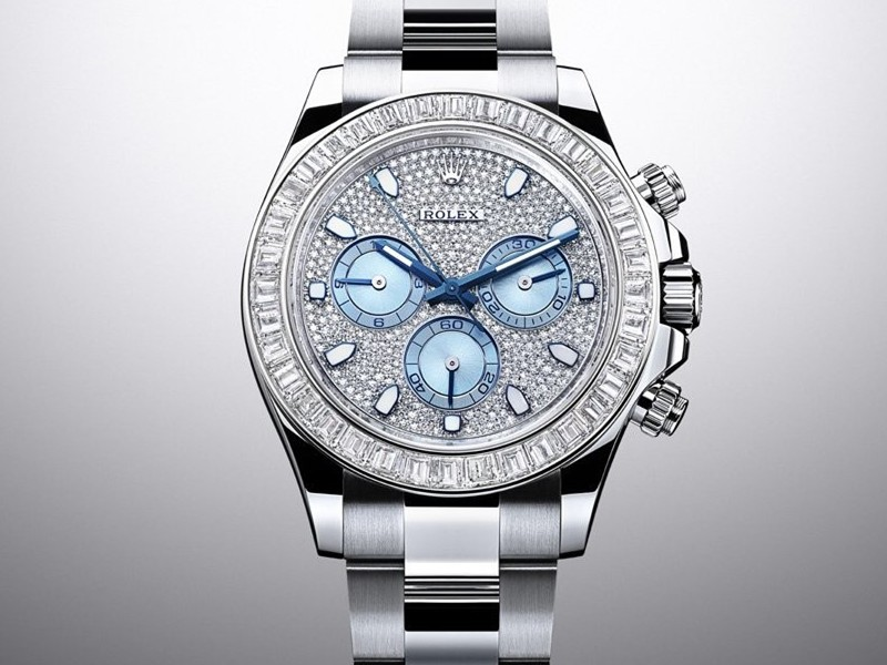 Rolex Daytona 116576 Swiss Chronograph-Full Diamonds Dial