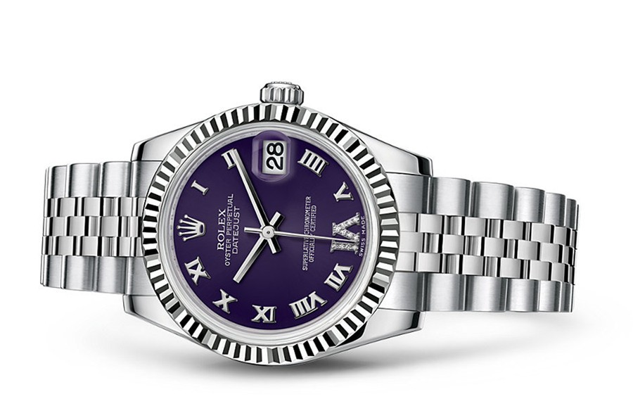 Rolex Datejust Ladies 178274-0088 Swiss Automatic Dark Purple Dial 31MM