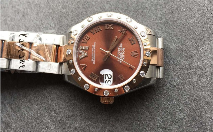 Rolex Datejust Swiss Automatic Watch Women Watch Brown Dial