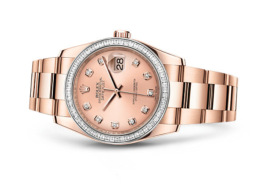 Rolex Datejust Swiss Automatic Watch 36mm Rose Gold Pink Dial