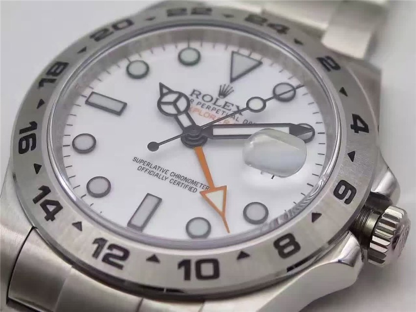 Rolex Explorer II Swiss Automatic Watch-White Dial