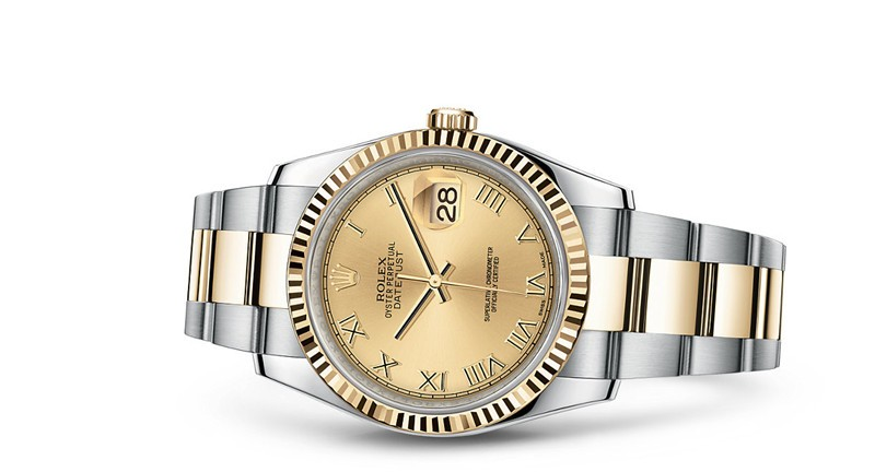 Rolex Datejust 116233-0193 Swiss Automatic Watch Gold Dial 36MM