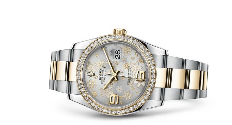 Rolex Datejust 116243-0008 Swiss Automatic Watch Flower Dial 36MM