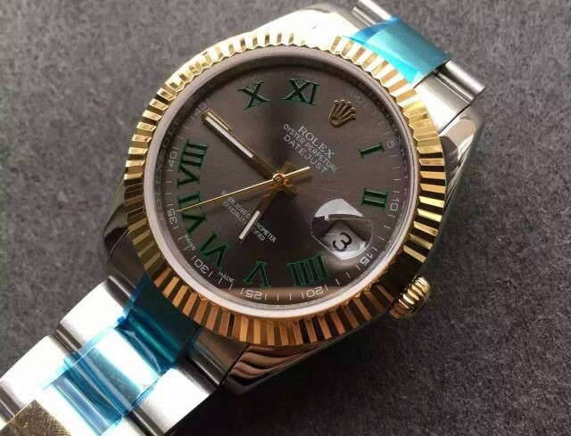 Rolex Datejust Swiss Automatic Watch-Yellow Gold-Gray Dial 41MM