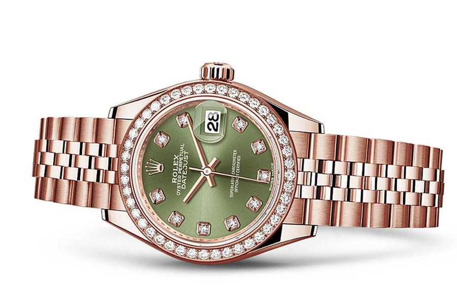Rolex Datejust Ladies 279135-0015 Swiss Automatic Olive-Green Dial 28MM