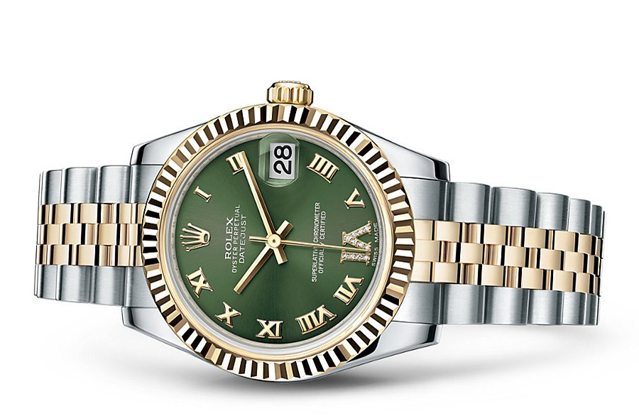 Rolex Datejust Ladies 178273-0090 Swiss Automatic Green Dial 31MM