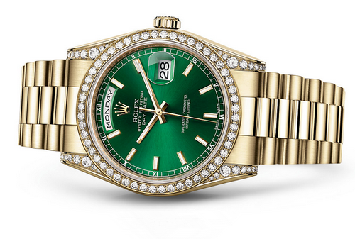 Rolex Day-Date 118388 Swiss Automatic Watch Green Dial 36MM