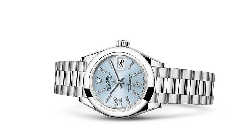 Rolex Datejust Ladies 279166-0002 Swiss Automatic Watch Diamonds Watch 28MM