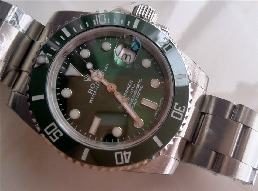 Rolex Submariner 116610LV Automatic-Luminous Green Dial-Stainless Steal Strap