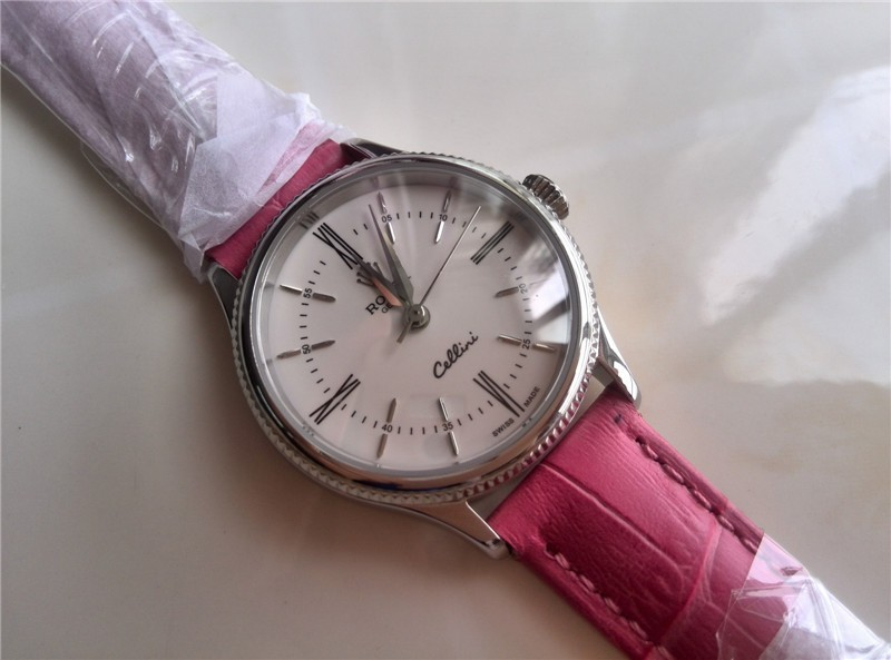 Rolex Cellini Automatic Watch For Women Pink Bracelet