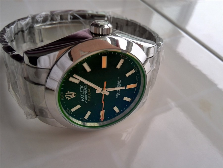 Rolex Milgauss Automatic Watch 116400GV-1 Green Dial