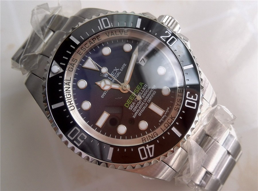Rolex Sea Dweller DeepSea Automatic Watch-D Blue Dial White Dot Markers-Stainless Steel Oyster Bracelet