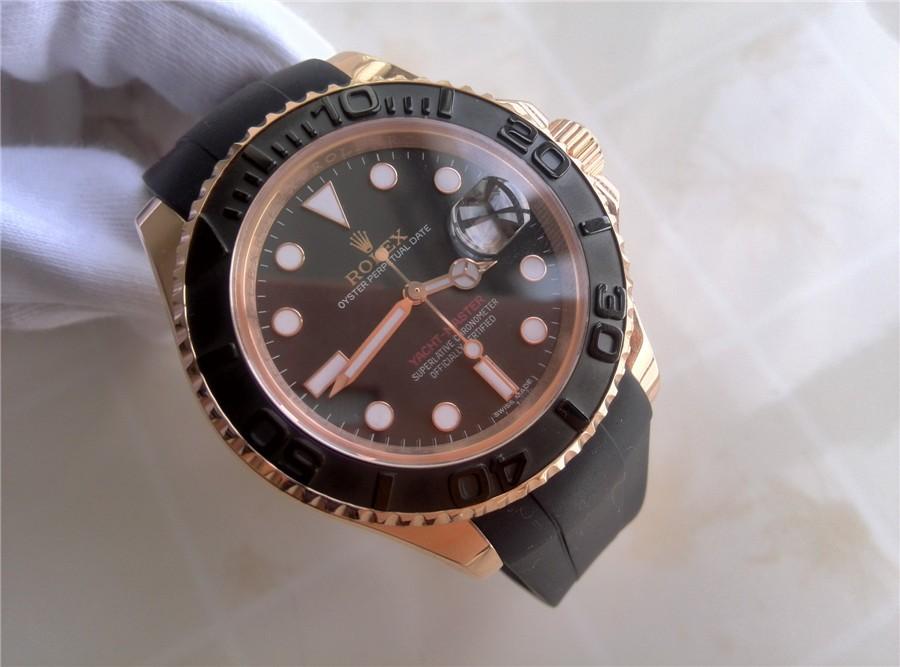 Rolex Yacht-Master Everose Swiss Automatic Watch Oysterflex Bracelet