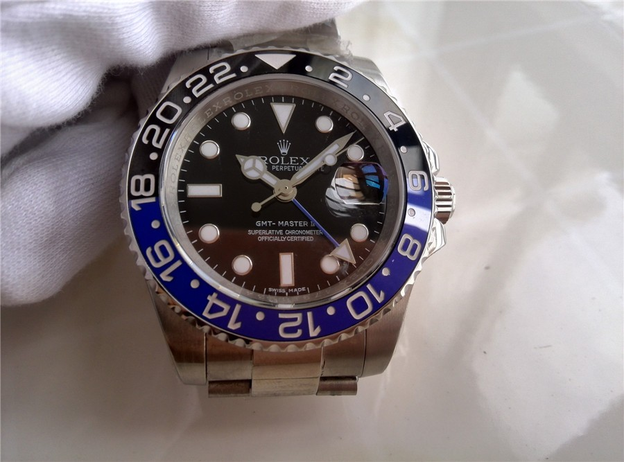 Rolex GMT-Master II Batman Swiss Automatic Watch Dark Knight - Blue And Black Bezel
