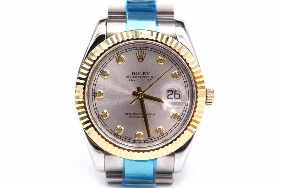 Rolex Datejust Swiss Automatic Watch-Yellow Gold-Diamonds Hour Markers
