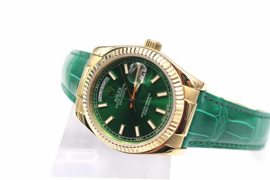 Rolex Day-Date Automatic Watch Green Dial