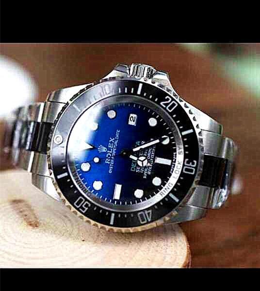 Rolex Sea Dweller DeepSea Automatic Watch-Black&Blue Dial White Dot Markers-Ceramic Midlinks Bracelet 44mm