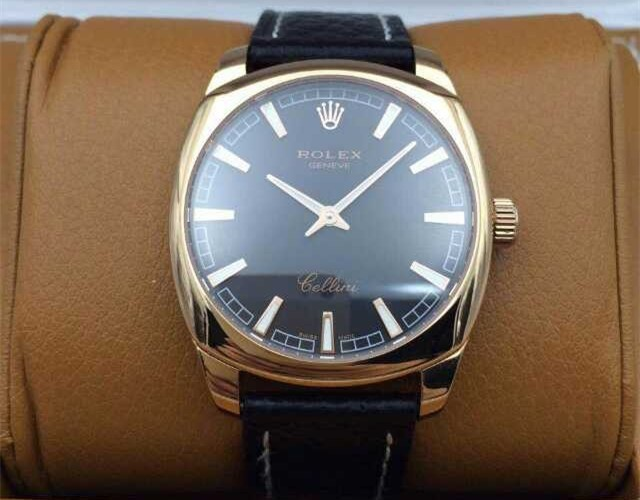 Rolex Cellini Swiss eta 2824 Automatic Watch-Stainless Steel Case with Gold coating
