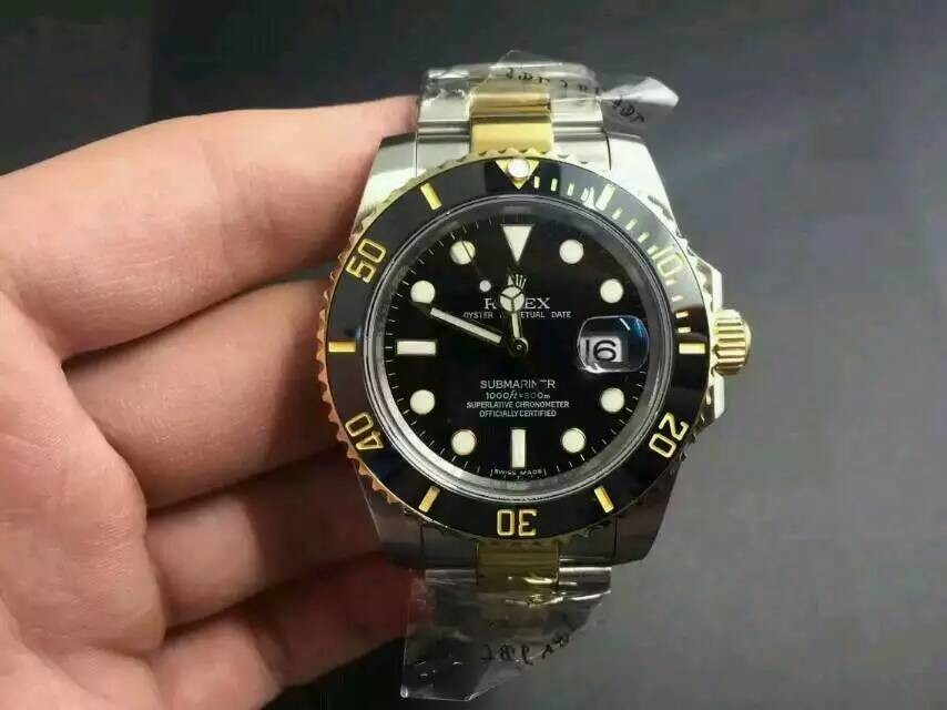 Rolex Submariner Automatic Watch 16613-1 Bi Tone Bracelet