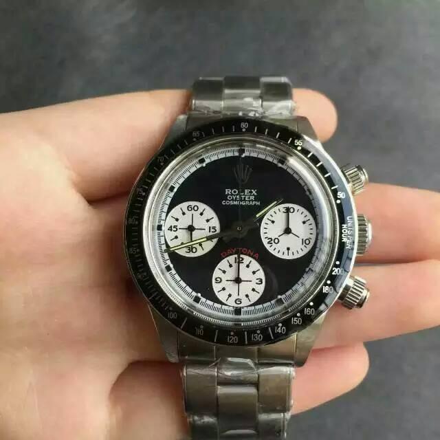Rolex Daytona Cosmograph Swiss Chronograph Black Dial White Chrono Subdials