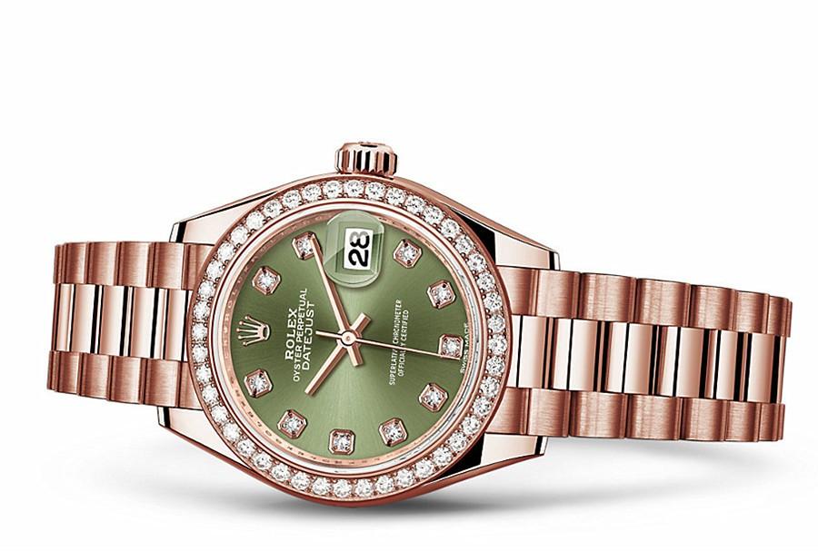 Rolex Datejust Ladies 279135-0014 Swiss Automatic Olive-green Dial 28MM
