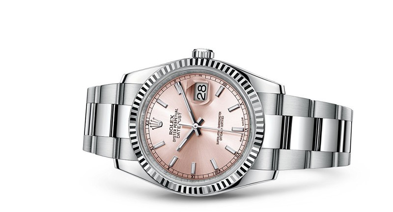 Rolex Datejust 116234-0120 Swiss Automatic Watch Pink Dial 36MM