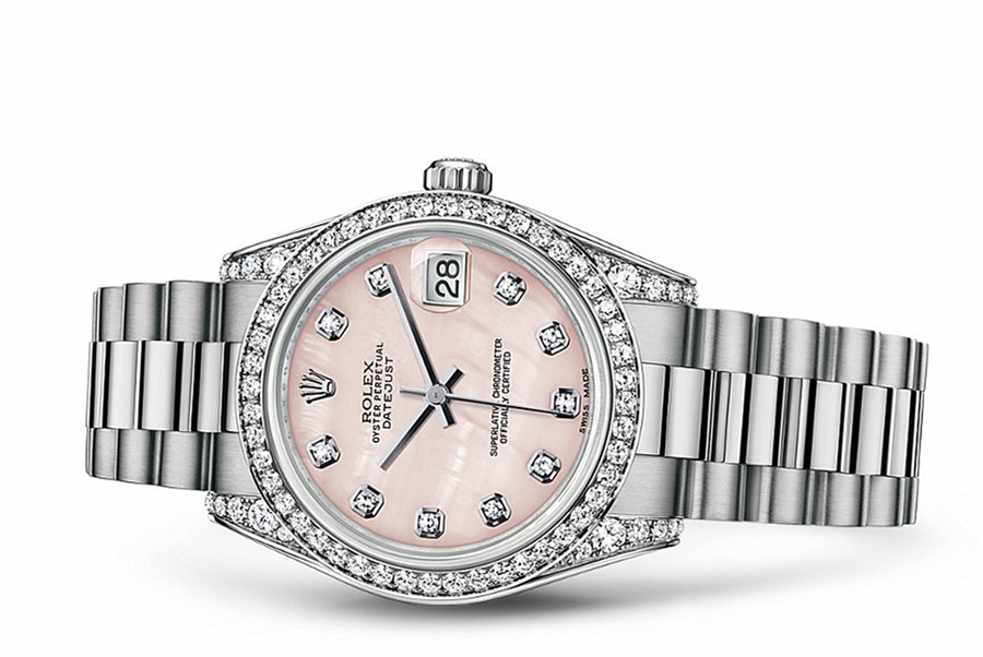 Rolex Datejust Ladies 178159-0002 Swiss Automatic Pink MOP Dial 31MM