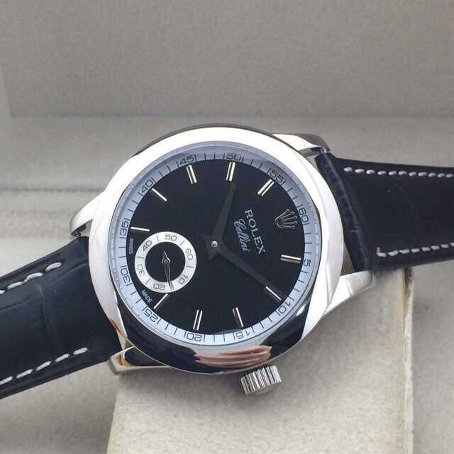 Rolex Cellini Swiss Automatic Watch-Small Seconds-Black Dial