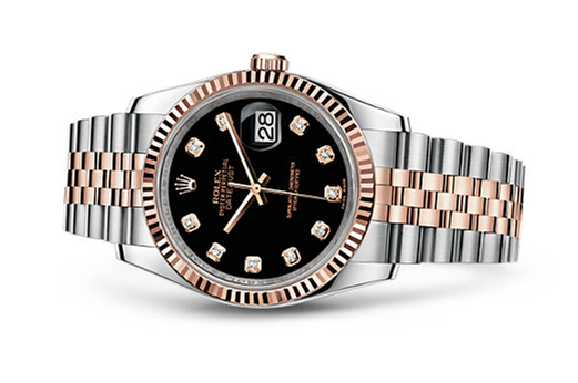 Rolex Datejust 116231-0056 Swiss Automatic Rose Gold Black Dial Jubilee Bracelet 36MM