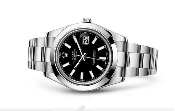 Rolex Datejust II Swiss Automatic Watch Stainless Steel Black Dial 41MM