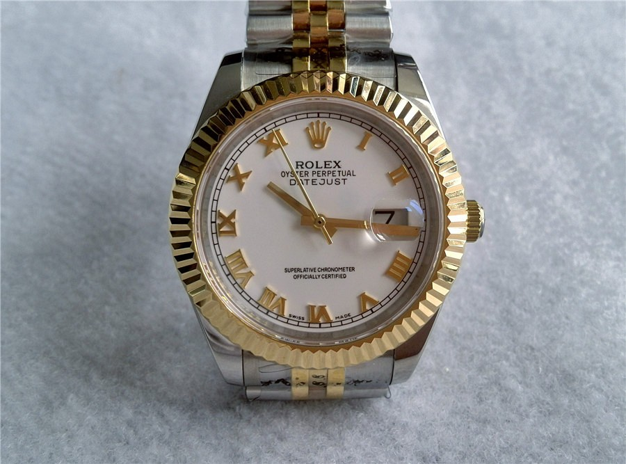 Rolex Datejust II 18K Gold Two toned - Gorgeous White Dial
