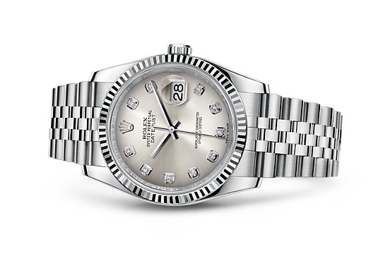 Rolex Datejust 116234-84 Swiss Automatic Watch Rhodium Dial Jubilee Bracelet 36MM
