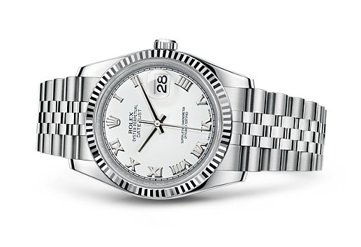 Rolex Datejust Swiss Automatic Watch 36mm Stainless Steel White Dial