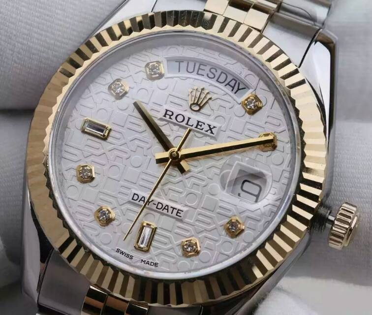 Rolex More High end Model -  Rolex Day-date 18K Gold Two toned