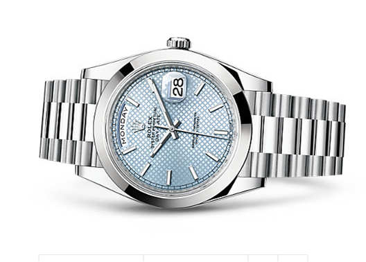 Rolex Day-Date 228206 Swiss 3235 Automatic Watch Ice Blue Dial Presidential Bracelet 40MM