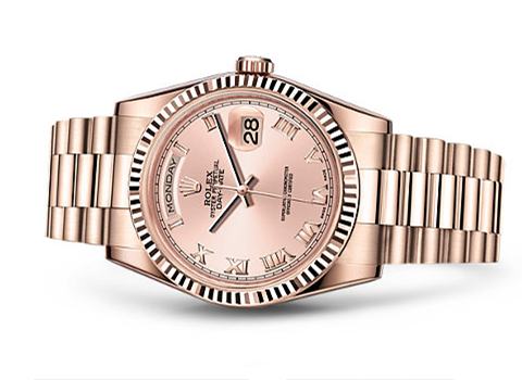 Rolex Day-Date Swiss Automatic Watch Rose Gold Dial 36MM