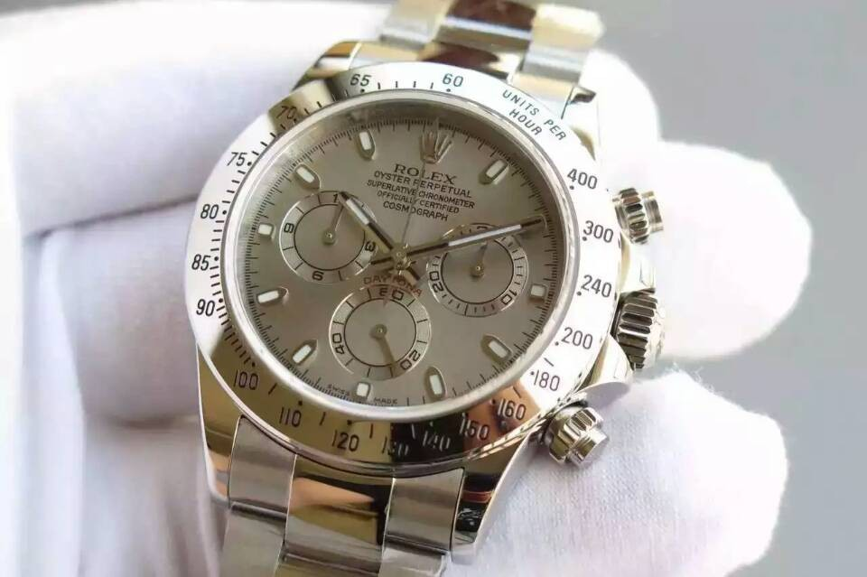Rolex Daytona Swiss Chronograph-Gray Dial-Steel
