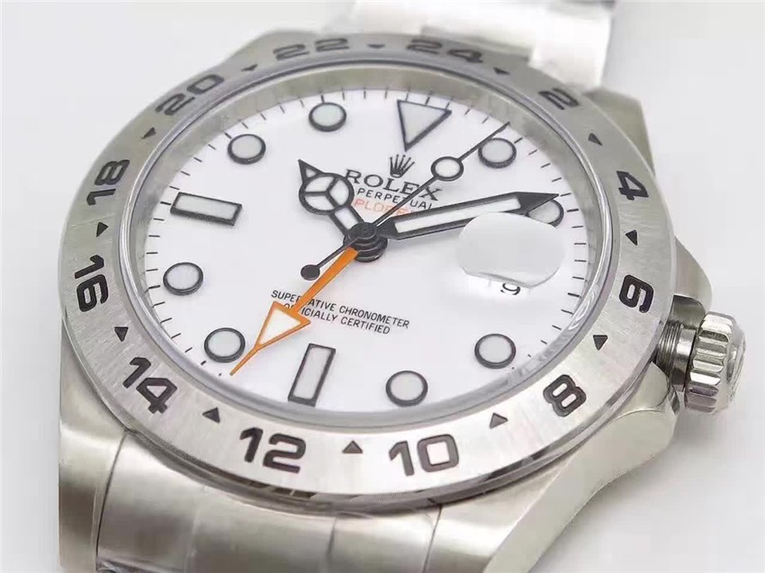 Rolex Explorer II 216570 Swiss Cloned 3187 Automatic Watch-White Dial
