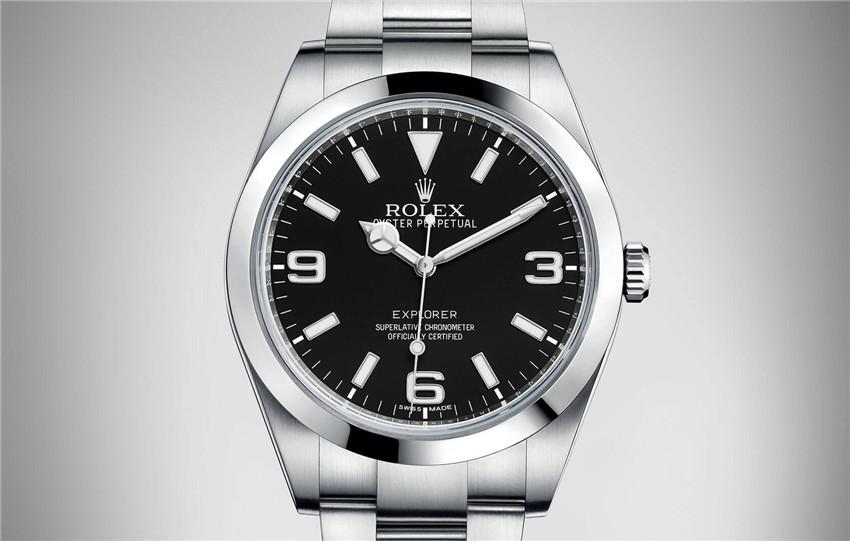 Rolex Explorer Swiss 3132 Automatic Watch Black Dial