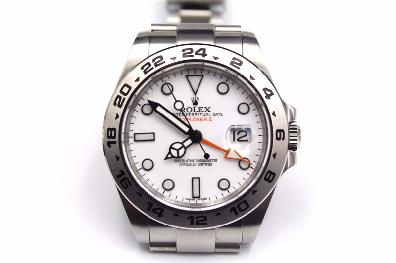 Rolex More High end Model -  Rolex Explorer II Stainless Steel White Dial